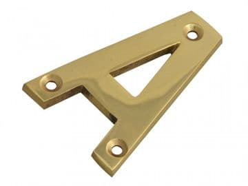 Letter A - Brass Finish 75mm (3in)